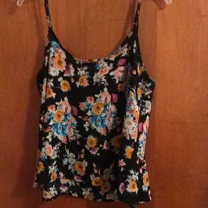 Wet Seal Tops - COLORFUL FLORAL TANK TOP
